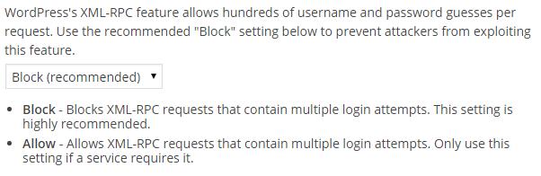 Блокировка множественных запросов в WordPress XML-RPC